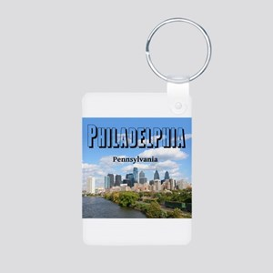 Philadelphia Aluminum Photo Keychain